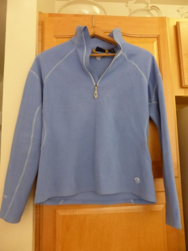 Women's Mountain Hardwear 1/4 Zip Fleece Pullover Large Blue Polartec