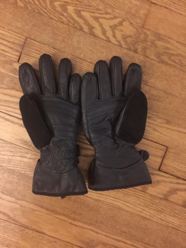 XL Men's Marmot Black Leather/Goretex Gloves