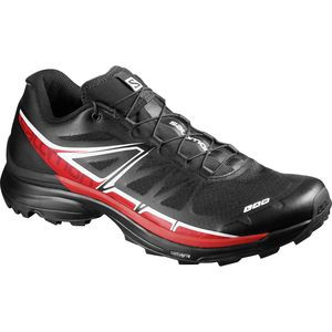 S-Lab Wings SG Trail Running Shoe - Men's Black/Racing Red/White, 8.5