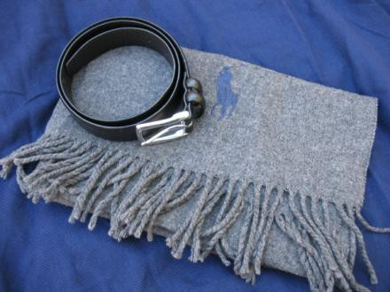 Polo Ralph Lauren Belt and Scarf