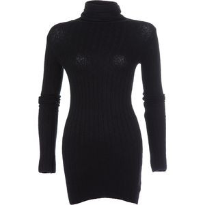 Skinny Skinny Mock Neck Sweater - Women's Black, M - Excellent