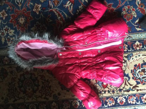 Pink winter jacket girls pink