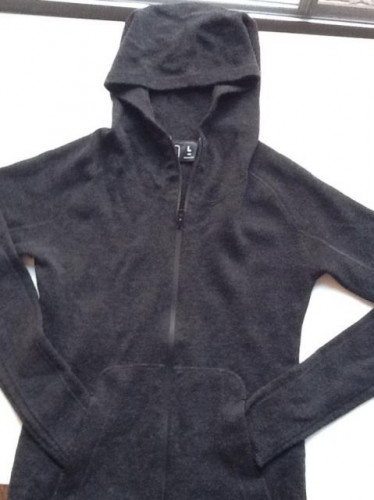 Women's Wool Artemis Hoodie - size Large - color Black - Brand New