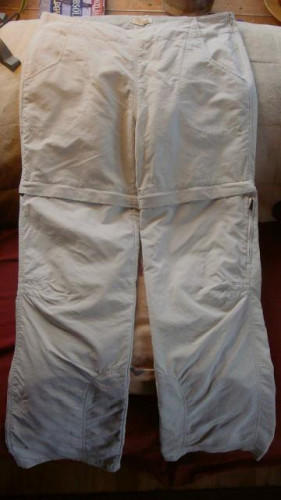Women's Royal Robbins Convertible Hiking Pants – Size 12 - Off White