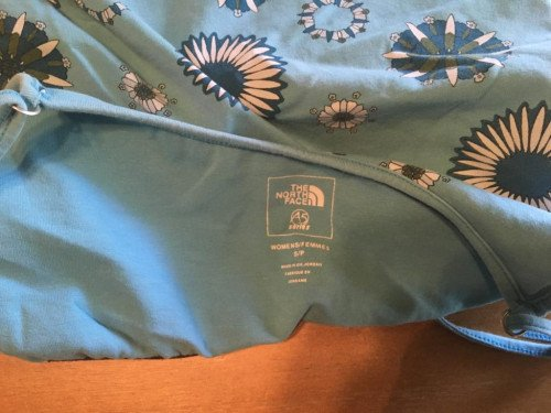 The North Face A5  Series Blue Patterned Women's Tank Top Small
