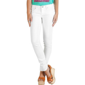 Sound Check Super Skinny Denim Pant - Women's Whit
