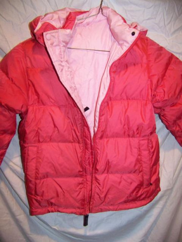 Lands End Reversible Down Puffy Coat Jacket, Girls 7-9