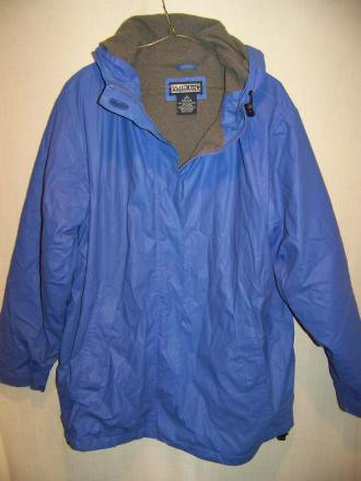 Lands End Fleece Lined PVC Rain Jacket, MED 10-12