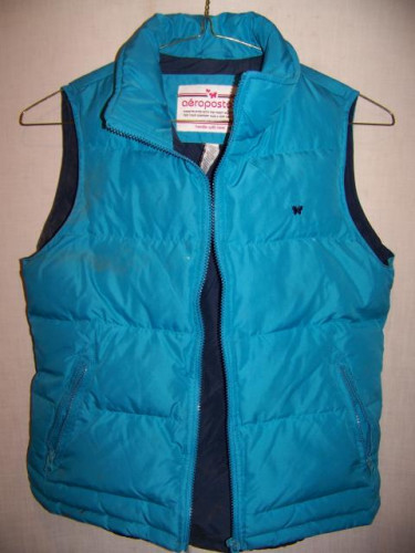 Aeropostale Down Vest, Womens Medium