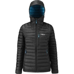 Thumbnail of  Microlight Alpine Hooded Down Jacket - Women's Black/Seaglass, L - Goo view 1