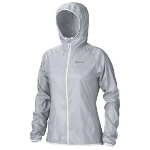 Marmmot Trail Wind Hooded Jacket - Women's Silver, S