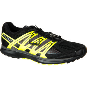 X-Scream Running Shoe - Men's Black/Fluo Yellow/Au