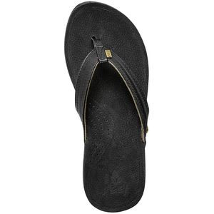 Miss J-Bay Flip Flop - Women's Black/Gold, 10.0 - Good