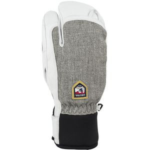 Army Leather Patrol 3-Finger Glove - Men's Light Grey, 11 - Fair