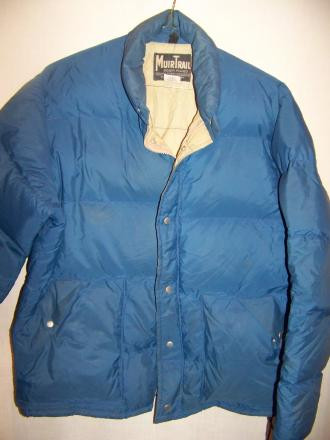 Vintage Muir Trail Down Sweater Jacket, Large