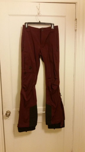 Black Diamond Dawn Patrol LT Touring Pant Sz Small - worn once!
