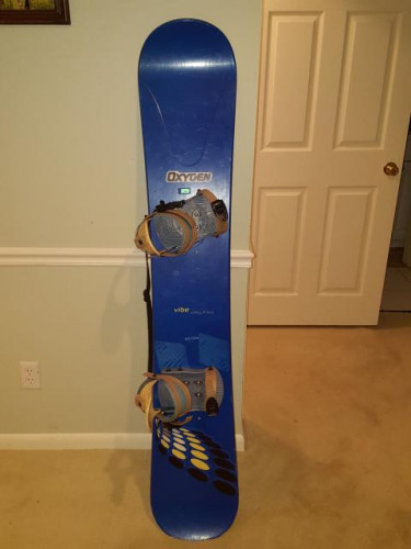 Oxygen Vibe snowboard, 163cm, with Oxygen bindings