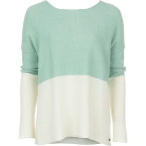 Carmel Colorblocked Sweater - Women's Birch/Cactus, L - Good