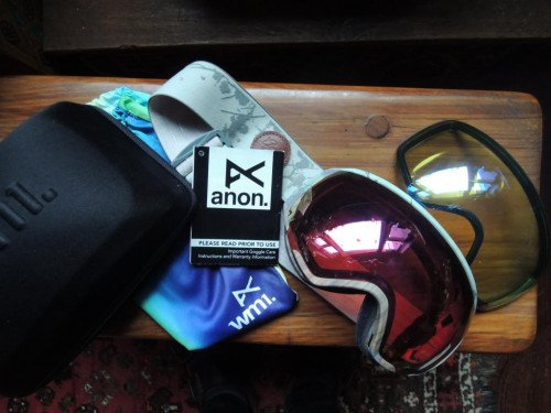 Anon Women's Goggle WM1, Frame: Blossom, 2 Lenses: Rose & Yellow