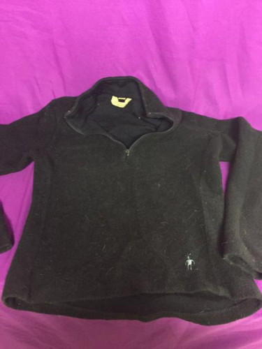 Smart wool ladies sweater small black mid weight