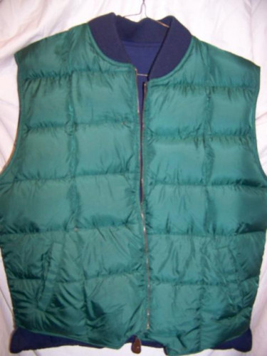 Eddie Bauer Reversible Down Vest, Men's Large