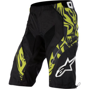 Gravity Short - Men's Black/Lime Green/Black, 32 -