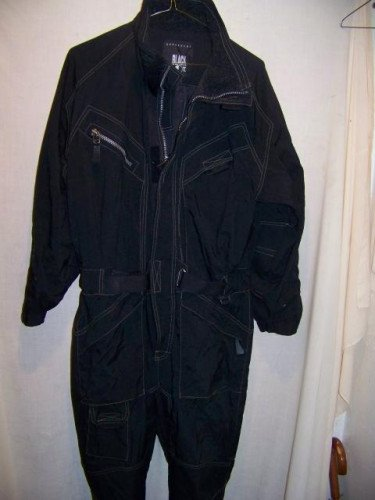Black Dot One Piece Ski Suit, Mens Medium Onesie