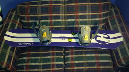 Heelside snowboard 139cm and matching bindings
