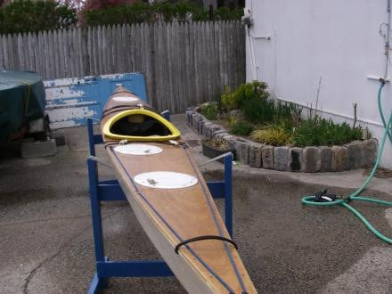 Low Volume Sea Kayak, wood stitch and glue $750