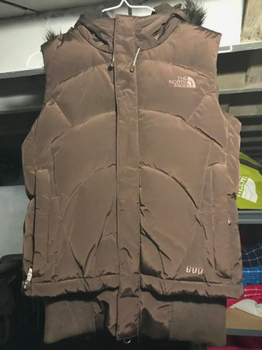 The North Face Gotham Down Hooded Vest with Fur Trim