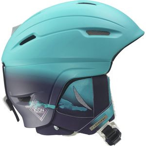 Icon 4D Custom Air Ski Helmet - Women's Scuba Blue/Eggplant, S/53-56cm