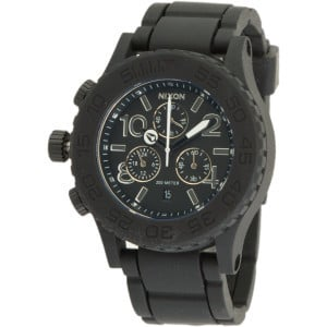Rubber 42-20 Chrono Watch Black, One Size - Like N