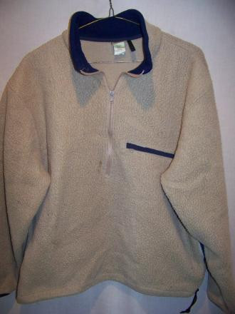 LL Bean Nubby Poly Fleece Pullover Shirt, Large