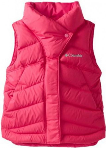 New Columbia Alpine Glow Down Vest Bright Rose Girls XL Pink Puffer