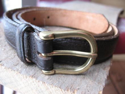 Women's LL Bean Pebbled Leather Belt