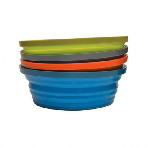 Bear Grylls Pack-It collapsible silicon bowl - GREEN ONLY