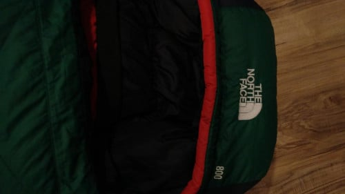 The North Face, 800 fill goose down sleeping bag, fits up to 6 foot 6