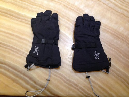 Men's Arcteryx Beta Shell Glove Size Small Black