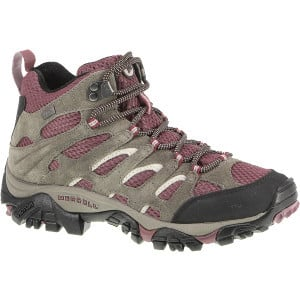 Moab Mid Waterproof Hiking Boot - Women's Boulder/Blush, 7.0 - Excelle