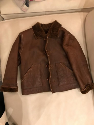 Kids 100% Shearling Leather Jacket - Made in Italy