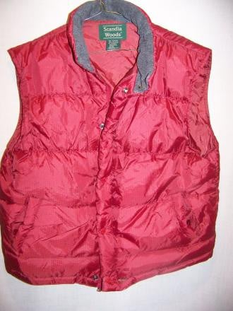 Scandia Woods Down Vest, Mens Large