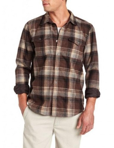 Prana Ryken Flannel, Brown, M, Excellent shape