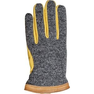 Deerskin Wool Tricot Glove Charcoal/Natural Yellow, 9 - Excellent