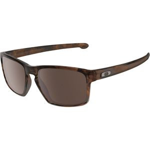 Silver Asian Fit Sunglasses  (A) Matte Brown Tort W/ Dark Grey, One Si