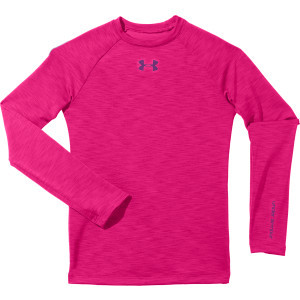 Evo Coldgear Crew-Neck Top - Girls' Pinkadelic/Hen