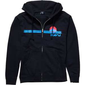 Full-Zip Hooded Sweatshirt - Men's Navy/Light Blue