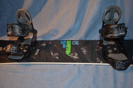 2009 Burton Clash 151 w/ Large K2 Indy Bindings
