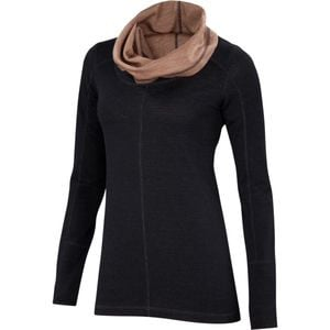 Dyad Cowl Neck Sweater - Women's Black/Camel, L - Like New