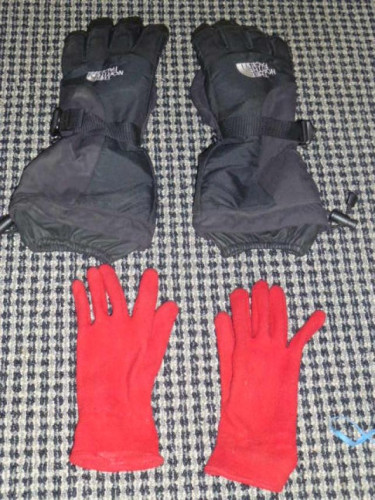 North Face Gore-Tex Mountaineering Gloves w/liners