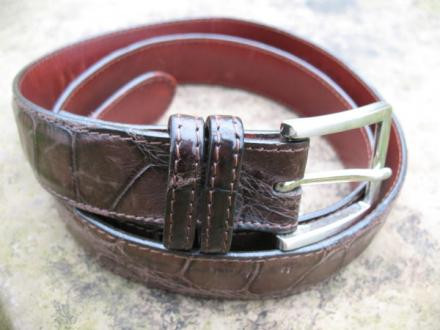 W. Kleinberg Matte Alligator Belt